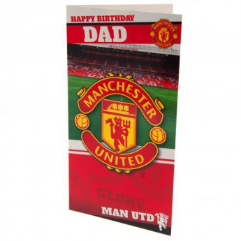 Manchester United życzenia urodzinowe Birthday Card Dad