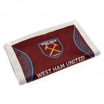West Ham United portfel nylonowy Nylon Wallet logo