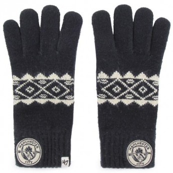 Manchester City rękawice męskie Knitted Gloves Adult Fairisle