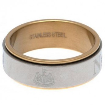 Newcastle United pierścionek Bi Colour Spinner Ring X-Small