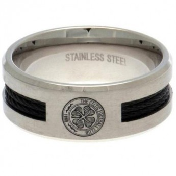 FC Celtic pierścionek Black Inlay Medium