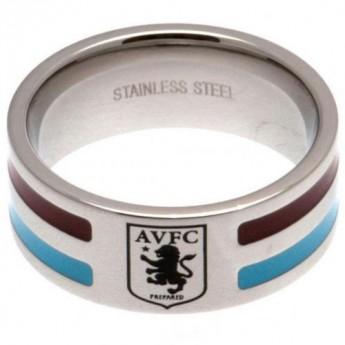 Aston Vila pierścionek Colour Stripe Ring Small