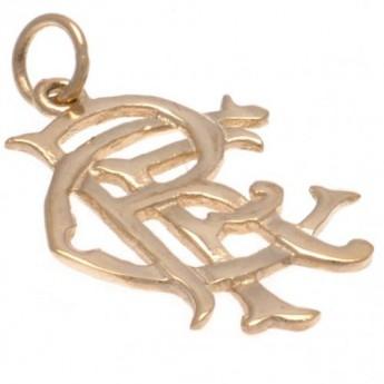 FC Rangers złoty brelok 9ct Gold Pendant Small