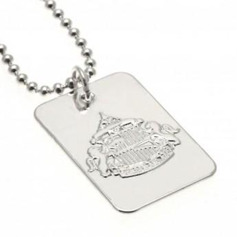Sunderland naszyjnik z zawieszką Silver Plated Dog Tag & Chain