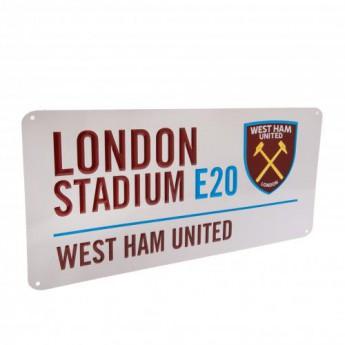 West Ham United metalowy znak Street Sign