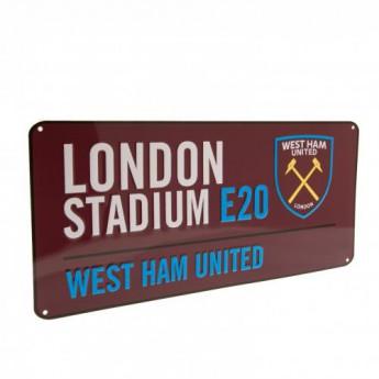 West Ham United metalowy znak Street Sign CL