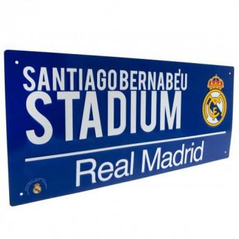 Real Madrid metalowy znak Street Sign BL