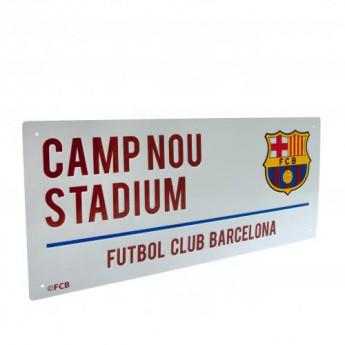 Barcelona metalowy znak Street Sign
