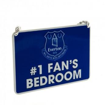 FC Everton ozdoba do sypialni Bedroom Sign No1 Fan