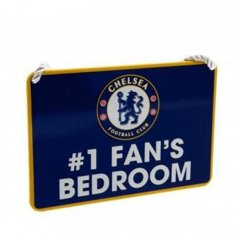 Chelsea ozdoba do sypialni blue Bedroom Sign No1 Fan