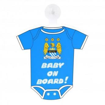 Manchester City tabiczka dziecko w samochodzie Baby On Board