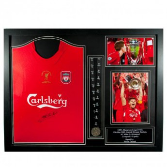Słynni piłkarze koszulka w antyramie FC Liverpool Gerrard Signed Shirt Istanbul (Framed)