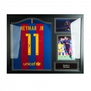 Słynni piłkarze koszulka w antyramie FC Barcelona Neymar Signed Shirt (Framed)