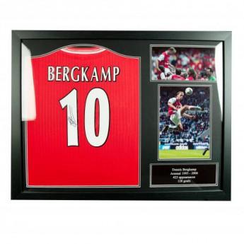 Słynni piłkarze koszulka w antyramie FC Arsenal Bergkamp Signed Shirt (Framed)