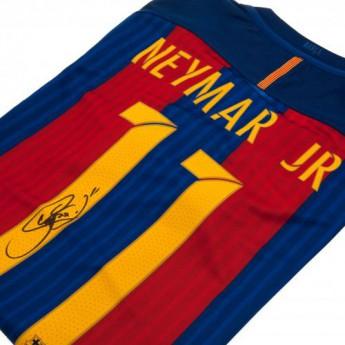 Słynni piłkarze koszulka męska FC Barcelona Neymar Signed Shirt