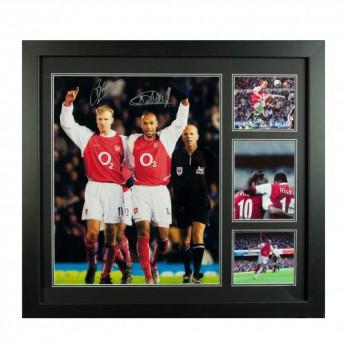 Słynni piłkarze obrazek w ramce FC Arsenal Bergkamp & Henry Signed Framed Print