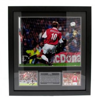 Słynni piłkarze obrazek w ramce FC Arsenal Bergkamp Signed Framed Print