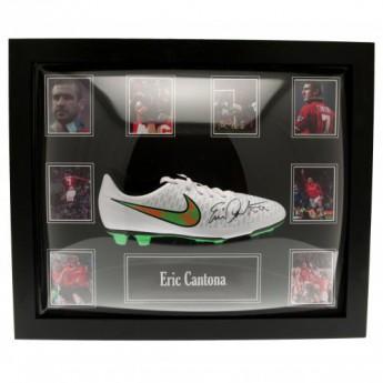 Słynni piłkarze korki w antyramie Manchester United Cantona Signed Boot (Framed)
