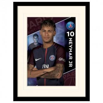 Paris Saint German obrazek w ramce Neymar 16 x 12