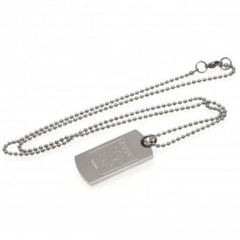 Aston Vila naszyjnik z zawieszką Engraved Dog Tag & Chain
