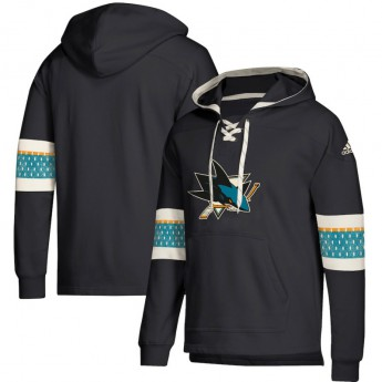 San Jose Sharks męska bluza z kapturem black Adidas Jersey Lace-Up Pullover Hoodie