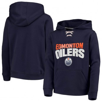 Edmonton Oilers dziecięca bluza z kapturem Off The Ice Lace-Up Pullover Hoodie