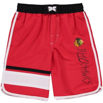 Chicago Blackhawks kąpielówki dziecięce Color Block Swim Trunks