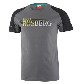 Puma Mercedes AMG Petronas koszulka męska Rosberg grau