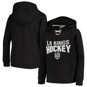 Los Angeles Kings dziecięca bluza z kapturem Off The Ice Lace-Up Pullover Hoodie