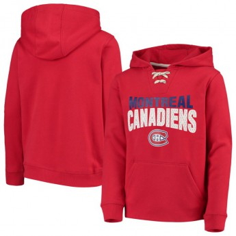 Montreal Canadiens dziecięca bluza z kapturem Off The Ice Lace-Up Pullover Hoodie