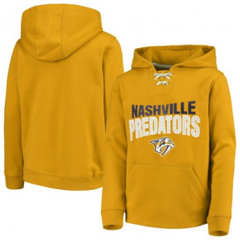 Nashville Predators dziecięca bluza z kapturem Off The Ice Lace-Up Pullover Hoodie