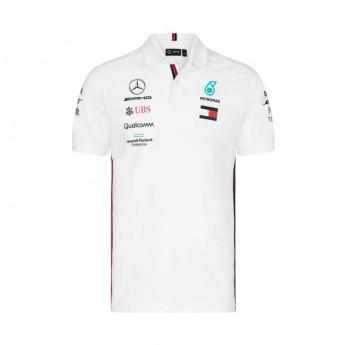 Mercedes AMG Petronas męska koszulka polo white F1 Team 2019