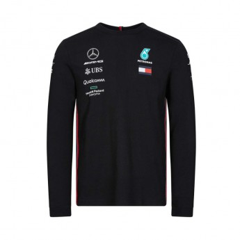 Mercedes AMG Petronas męska koszulka z długim rękawem black F1 Team 2019