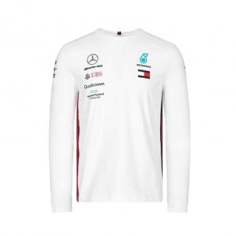 Mercedes AMG Petronas męska koszulka z długim rękawem white F1 Team 2019