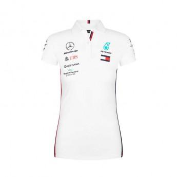 Mercedes AMG Petronas damska koszulka polo white F1 Team 2019