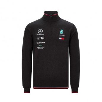 Mercedes AMG Petronas bluza męska black Half Zip F1 Team 2019