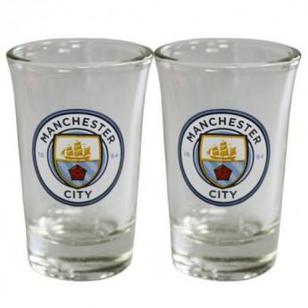 Manchester City kieliszek 2pk Shot Glass Set