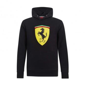 Ferrari dziecięca bluza z kapturem Logo black F1 Team 2019