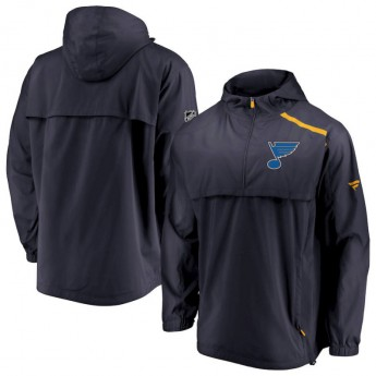 St. Louis Blues męska kurtka z kapturem Authentic Pro Rinkside Anorak 1/4-Zip