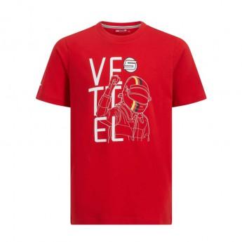 Ferrari koszulka dziecięca red Vettel F1 Team 2019