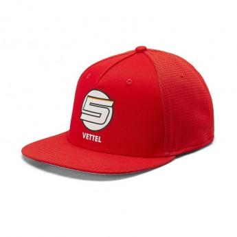 Ferrari czapka flat baseballówka Brim Vettel Fan red F1 Team 2019