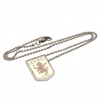 Aston Vila naszyjnik z zawieszką stainless steel pendant & chain LG