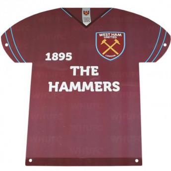 West Ham United metalowy znak Metal Shirt Sign