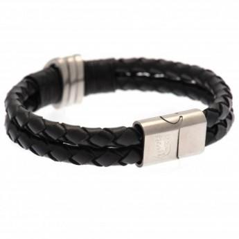 Aston Vila bransoletka skórzana Leather Bracelet