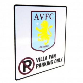 Aston Vila plakietka stalowa No Parking Sign