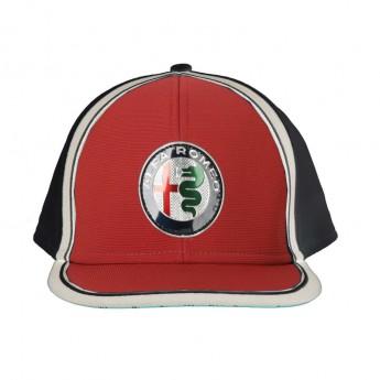 Alfa Romeo Racing dziecięca czapka flat Logo Red F1 Team 2019