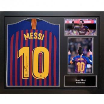 Słynni piłkarze koszulka w antyramie FC Barcelona Messi Signed Shirt (Framed)